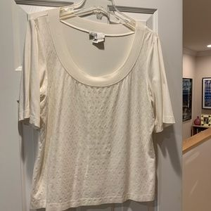 St. John cream top with pyettes